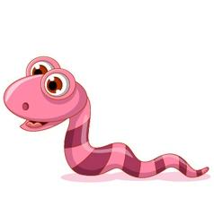 cute little worm cartoon vector image vector image