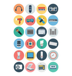 Electronics Flat Icons 3 vector image vector image
