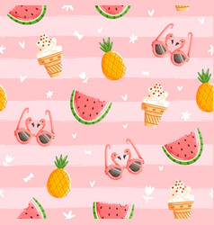 pink summer pattern vector image vector image