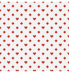 Red poker seamless pattern vector