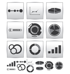 Infographics set icon Swirl line graph vector image