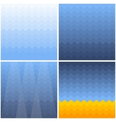 marine background with waves gradient vector image