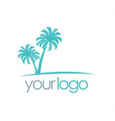 palm tree tropic logo vector image vector image