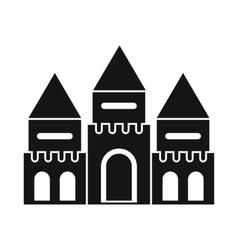 Children house castle icon simple style vector image