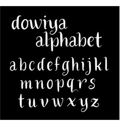 dowiya alphabet typography vector image vector image