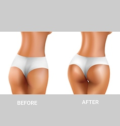 before and after buttocks exercise vector image vector image