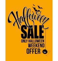 Halloween sale Happy holiday vector image vector image