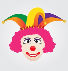 Joker Face With Jester Hat vector image vector image