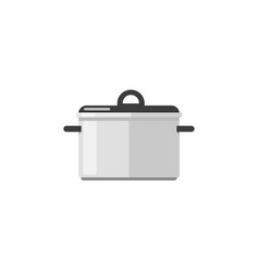 kitchen pan icon isolated on white flat vector image vector image