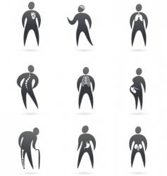 medical icons x-ray vector image vector image