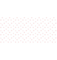 valentines background with heart seamless pattern vector image vector image