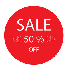 50 off sale promotion flat badge graphic vector image