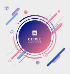 abstract blue and pink geometric circles with vector image