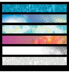 Abstract Splatter Pattern Banner vector