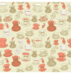 Afternoon Tea Pattern Background vector image