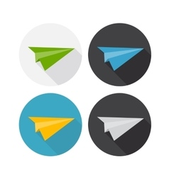 Airplane Flat Icon with Long Shadow vector