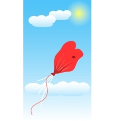Balloon Love Deflate Art vector
