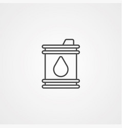 barrel icon sign symbol vector image