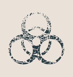 Biohazard cracked sign vector