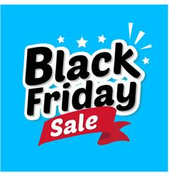 Black friday sale banner in blue background vector