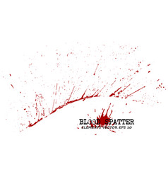 Blood splatter elements on white background vector