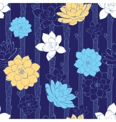 Blossoming branches stripes seamless vector