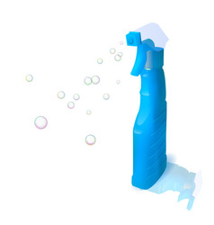 Bottle with sprayer vector