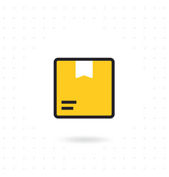 box icon isolated on white background vector image