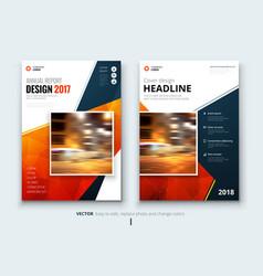 business brochure or flyer design leaflet vector image