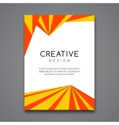 Business report design flyer template background vector image vector image