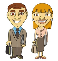 Businessman businesswoman frontal vector