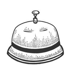 Call bell sketch engraving vector