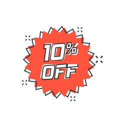 cartoon discount sticker icon in comic style sale vector image