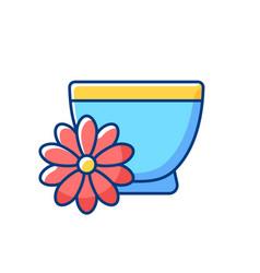 Chrysanthemum tea rgb color icon vector