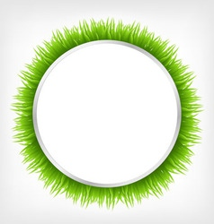 circle with grass vector image