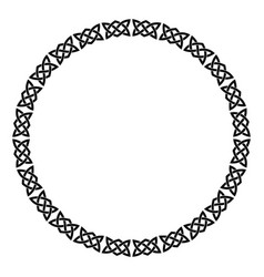 Circular celtic ornament vector