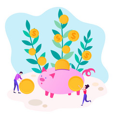 Concept of cost savings for revenue growth vector
