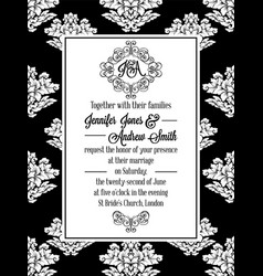 damask victorian brocade pattern invitation vector image