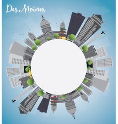 Des Moines Skyline vector image