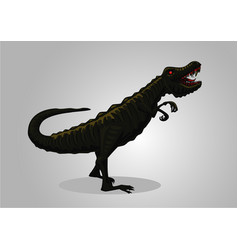 dinosaur tyrannosaur isolated on white vector image