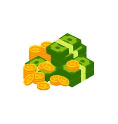 earn money logo icon design coin and cash money vector image