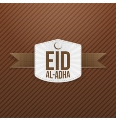 Eid al-Adha white paper Tag vector