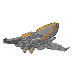 Fantasy spacecraft non white background vector