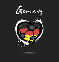 flag of germany in the form of a heart vector image
