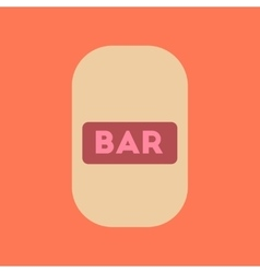 flat icon stylish background poker bar sign vector image
