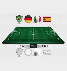 Football field soccer vector