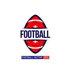 Football logo template design vector