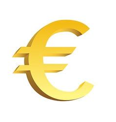 Golden currency symbol vector