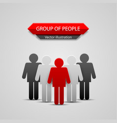 Group of people leader vector