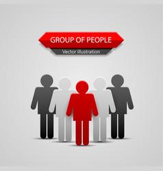 Group people leader vector